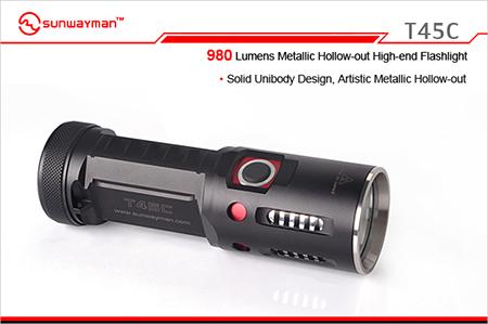 sunwayman サンウェイマン t45c cree xm l2 led搭載 cr123電池 4本